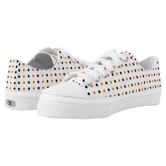 polka dots dotty halloween pattern Low-Top sneakers
