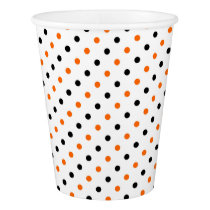 polka dots dotty halloween pattern paper cup