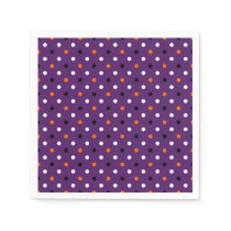 polka dots dotty halloween pattern paper napkin