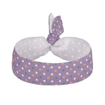 polka dots dotty halloween pattern ribbon hair tie