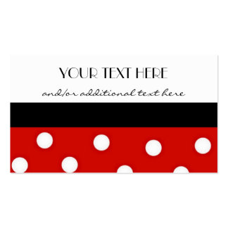 Polka Dots Double-Sided Standard Business Cards (Pack Of 100)