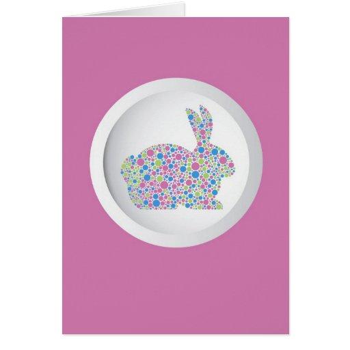 Polka Dots Easter Bunny Card