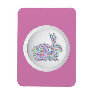 Polka Dots Easter Bunny Magnet