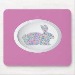 Polka Dots Easter Bunny Mousepad