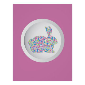 Polka Dots Easter Bunny Poster