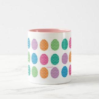 Polka Dots Easter Eggs Two-Tone Coffee Mug