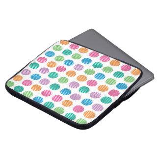 Polka dots eggs laptop computer sleeves