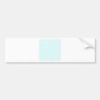 Polka Dots - Electric Blue on White Bumper Sticker