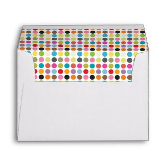 Multi - Colored Polka Dots Envelope
