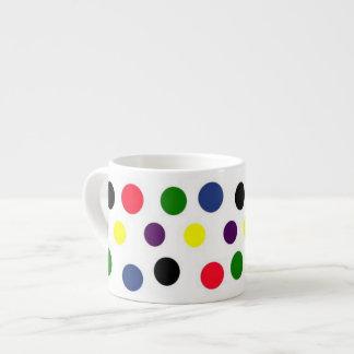 Polka Dots Espresso Mug 6 Oz Ceramic Espresso Cup