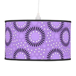 Polka Dots Floral Pattern On Lavender