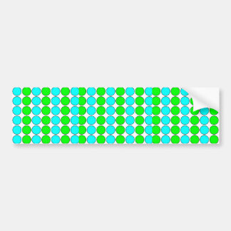 Polka Dots for Her : Lime & Cyan Polka Dot Stripes Bumper Sticker
