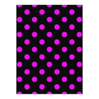 Polka Dots - Fuchsia on Black Card