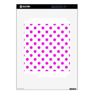 Polka Dots - Fuchsia on White Skins For iPad 2