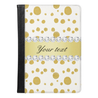 Polka Dots Gold Oil Paint and Diamonds iPad Air Case