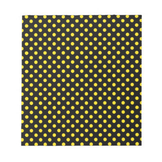 Polka Dots - Golden Yellow on Black Scratch Pads