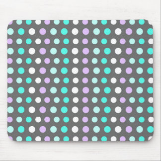 Polka Dots - Grey Mousepad