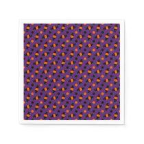 polka dots halloween candies pattern napkin