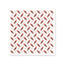 polka dots halloween candies pattern paper napkin