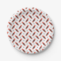 polka dots halloween candies pattern paper plate