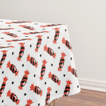 polka dots halloween candies pattern tablecloth