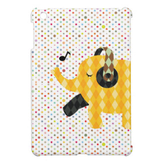 Polka Dots Happy Dancing Elephant iPad mini Case