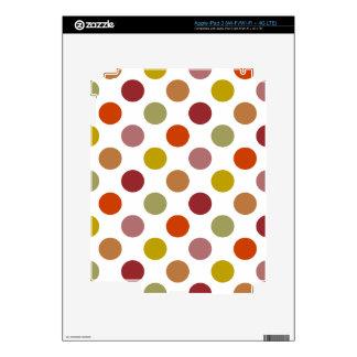 Polka Dots Harvest Mix Skins For iPad 3