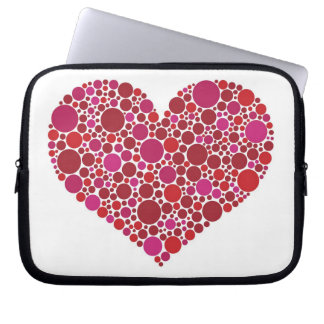 Polka Dots Heart Electronics Bag