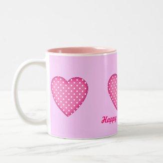 Polka Dots Hearts mug