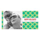 Polka Dots Holiday Photo Card