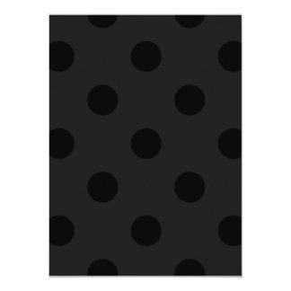 Polka Dots Huge - Black on Dark Gray Card