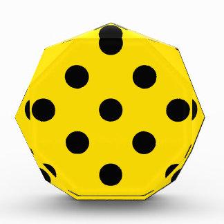 Polka Dots Huge - Black on Golden Yellow Acrylic Award