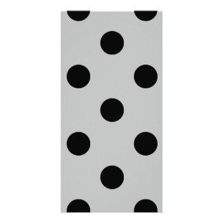 Polka Dots Huge - Black on Light Gray Card