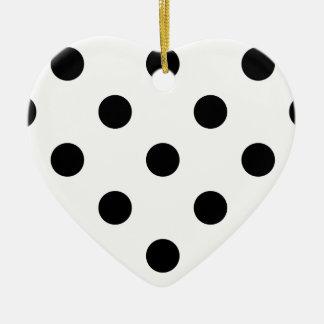 Polka Dots Huge - Black on White Ceramic Ornament
