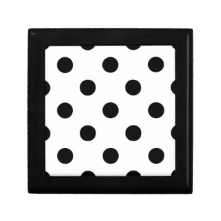 Polka Dots Huge - Black on White Gift Box