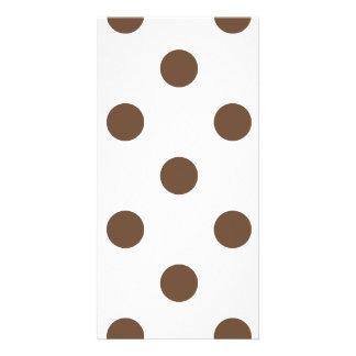 Polka Dots Huge - Coffee on White Card