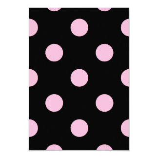 Polka Dots Huge - Cotton Candy on Black Card