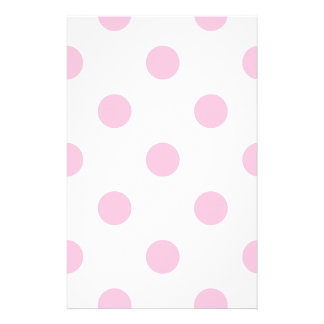 Polka Dots Huge - Cotton Candy on White Stationery