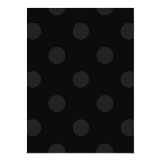 Polka Dots Huge - Dark Gray on Black Card