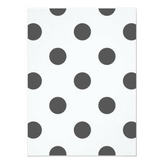 Polka Dots Huge - Dark Gray on White Card