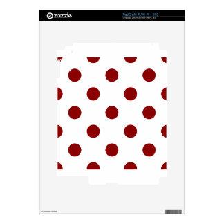 Polka Dots Huge - Dark Red on White iPad 2 Decal
