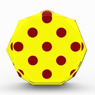 Polka Dots Huge - Dark Red on Yellow Award