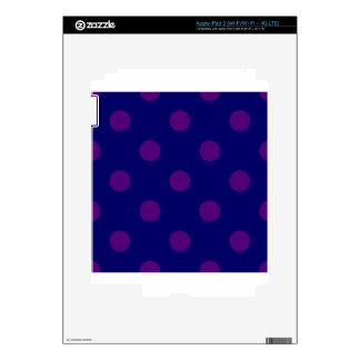 Polka Dots Huge - Dark Violet on Dark Blue Skin For iPad 3