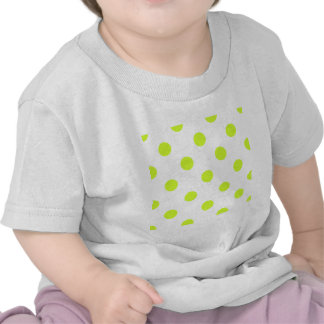 Polka Dots Huge - Fluorescent Yellow on White Tees