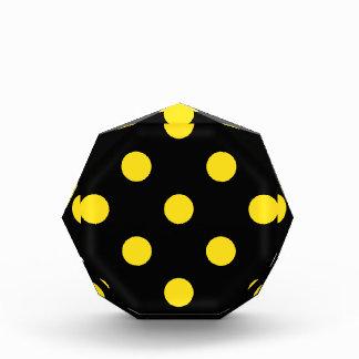 Polka Dots Huge - Golden Yellow on Black Award