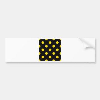 Polka Dots Huge - Golden Yellow on Black Bumper Sticker