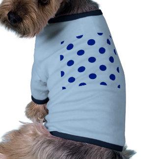 Polka Dots Huge - Imperial Blue on White Dog T Shirt