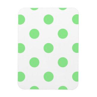 Polka Dots Huge - Light Green on White Rectangular Photo Magnet