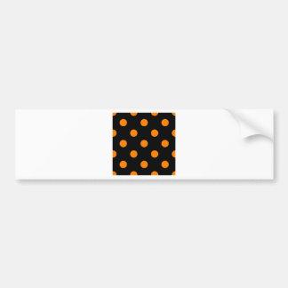 Polka Dots Huge - Orange on Black Bumper Sticker