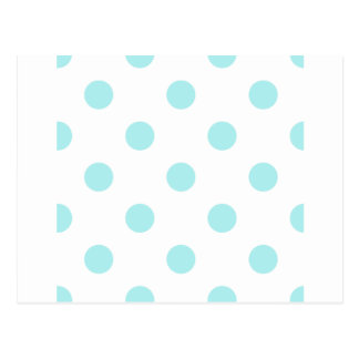Polka Dots Huge - Pale Blue on White Postcard